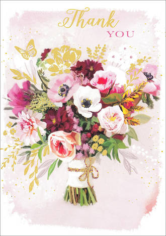 Thank You Card Flower Bouquet
