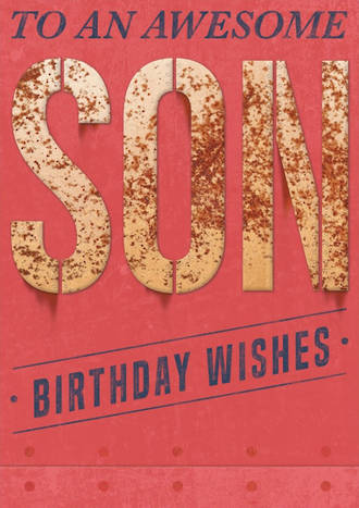 Son Birthday Card Bold as Brass Awesome
