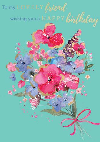 Blooming Botanicals Birthday Lovely Friend