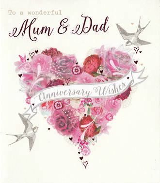 Anniversary Card Mum & Dad Tallulah Rose Wishes