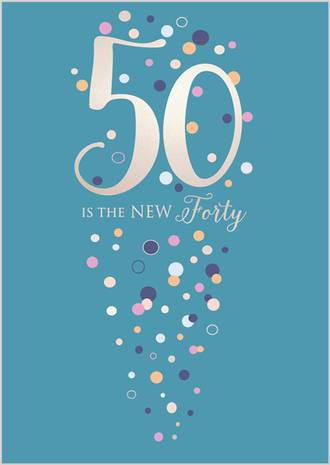 Birthday Age Card 50 Female Life & Soul