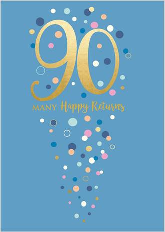 Age Card 90 Female Birthday Life & Soul