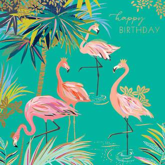 Sara Miller Birthday Flamingoes