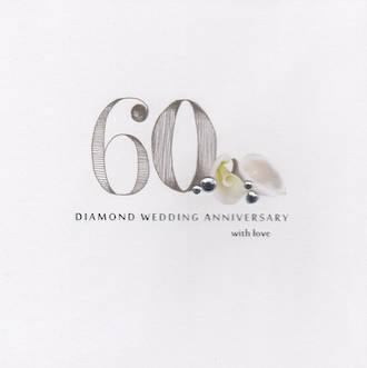 Anniversary Card 60th Diamond: Picadilly Diamond