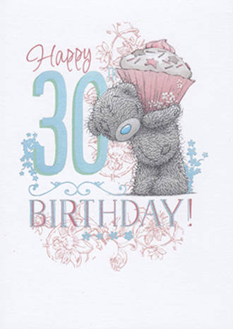 Birthday Age Card 30 Female Me To You Big Cupcake