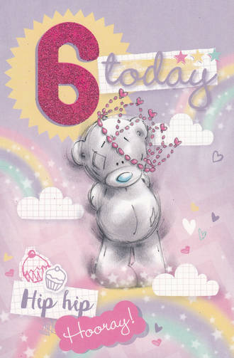 Birthday Age Card 6 Girl Me To You Tatty Crown