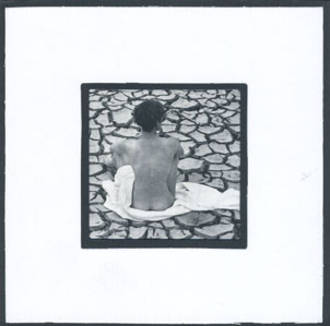 Blank Card: Naked Person On Cracks