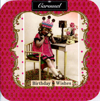 Blank Card: Carousel - Birthday Wishes Phone