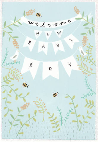 Baby Card Boy Welcome Bunting