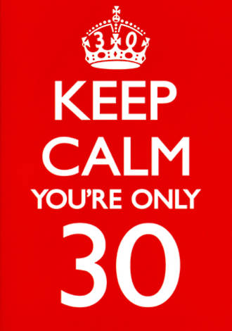 Age Card 30 Male Keep Calm