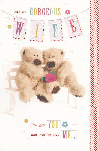 Anniversary Card Wife Gorgeous Bears