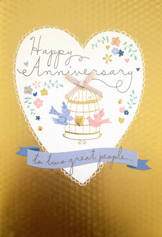 Anniversary Card Your Hallmark Large Birdcage