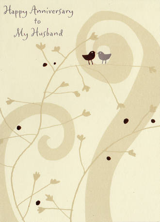 Anniversary Card Husband Birds