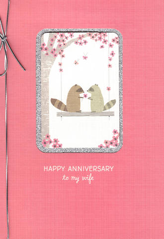 Anniversary Card Wife Hallmark Swing Flower