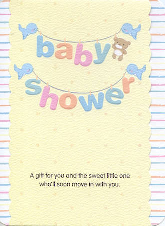 Baby Shower Card Gift For You