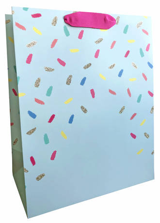 Large Gift Bag Female Confetti Mint