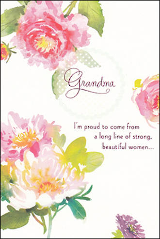 Grandmother Birthday Card Hallmark Grandma Flowers