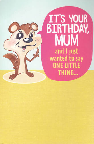 Mum Birthday Card Hallmark Squirrel Popout