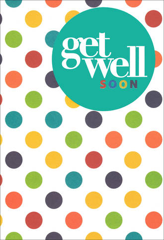 Get Well Card Hallmark Dots
