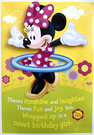 Hallmark Interactive Birthday Card Girl Minnie Mouse