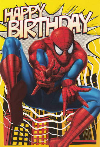 Hallmark Interactive Birthday Card Boy Spiderman