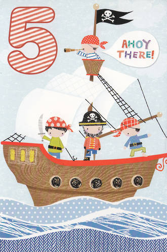 Age Card 5 Boy Pirate Ship
