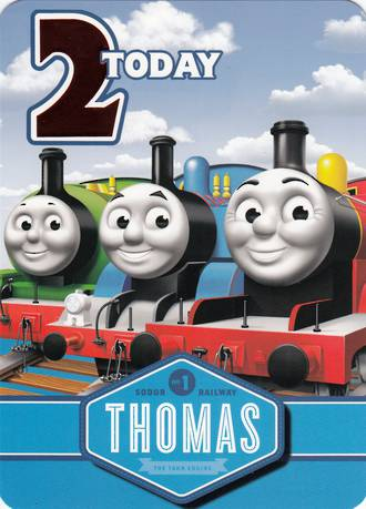 Age Card 2 Boy Thomas Tank