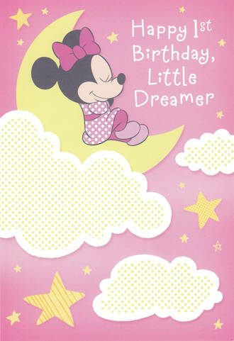 Age Card 1 Girl Minnie Mouse Dreamer