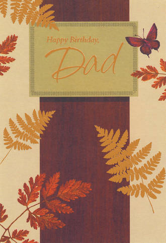 Son Birthday Card Hallmark Large Dad Bronze