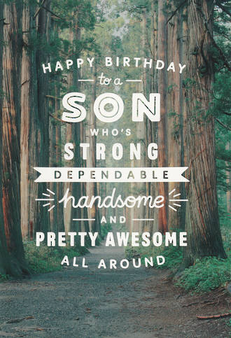 Son Birthday Card Tall Trees