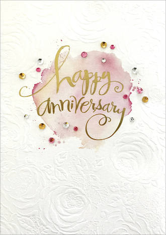 Anniversary Card Your Signature Happy