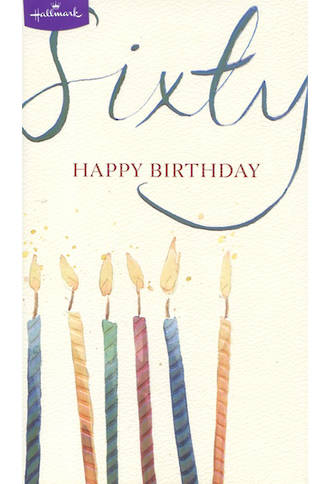 Birthday Age Card 60 Male Candles