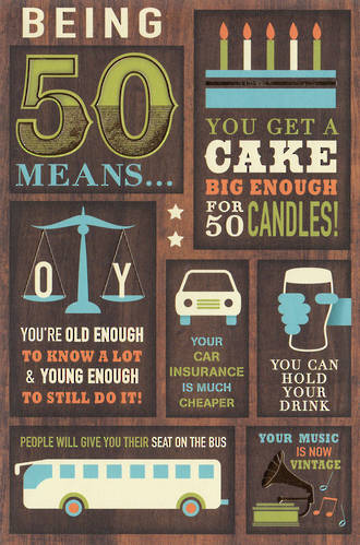 Birthday Age Card 50 Male Fifty Means