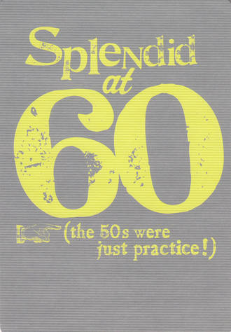 Birthday Age Card 60 General Splendid