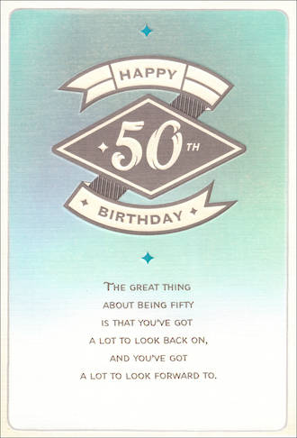 Age Card 50 Female Birthday a Lot
