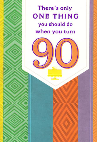 Age Card 90 Female Birthday Patterns