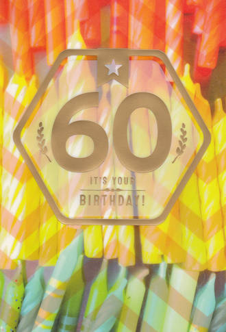 Age Card 60 Birthday Candles