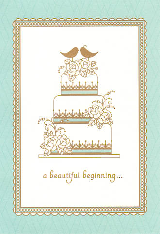 Wedding Card Hallmark Beautiful Beginning