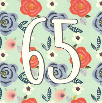 Birthday Age Card 65 Female Chroma