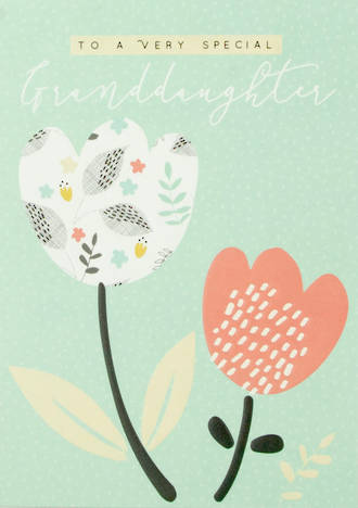 Grandaughter Birthday Card Halcyon Flowers