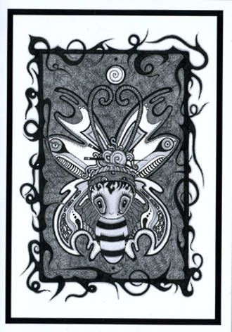 Blank Card Art Lillibet Bee