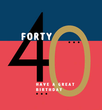 Birthday Age Card 40 Male Rocky Small Square