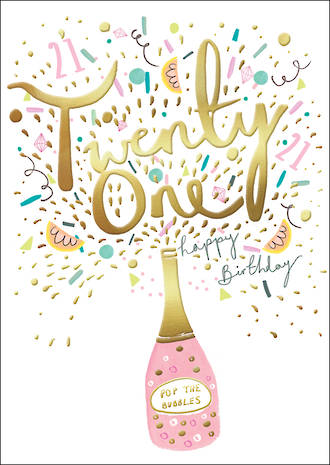 Birthday Age Card 21 Female Louise Tiler