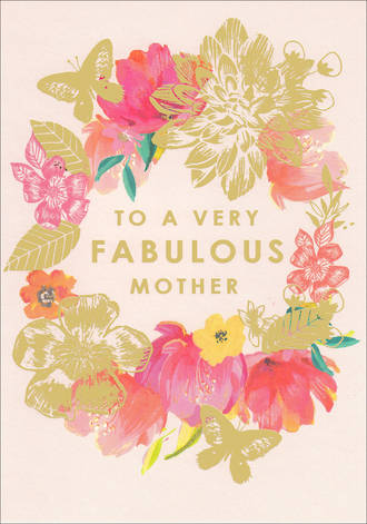Mum Birthday Card Mother Louise Tiler Fab Pink