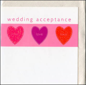 Wedding Acceptance Card Sewhappy
