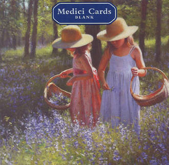 Medici Small Square Picking Bluebells