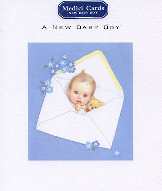 Baby Card Boy Medici & Teddy