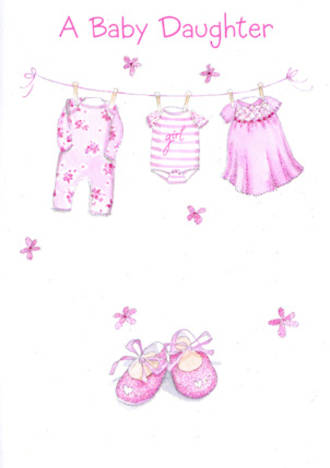 Baby Card Girl Daughter Clothesline