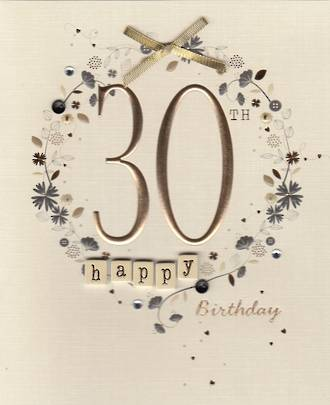 Birthday Age Card 30 Female Paper Gallery
