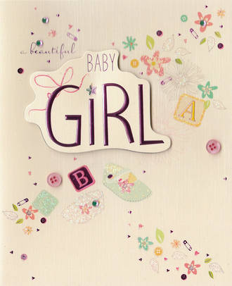 Baby Card Girl: Paper Gallery